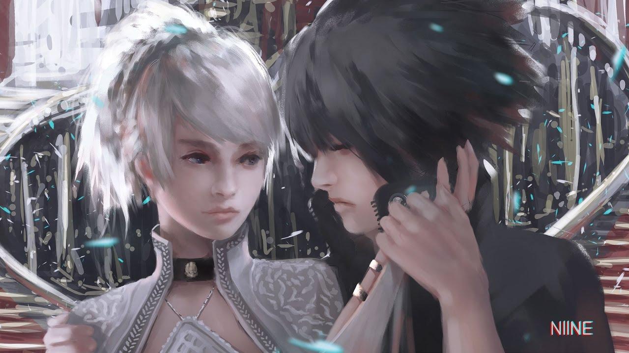 2048x1152 Noctis Lucis Caelum Final Fantasy Xv 4k: Luna And Noctis (Final Fantasy XV)