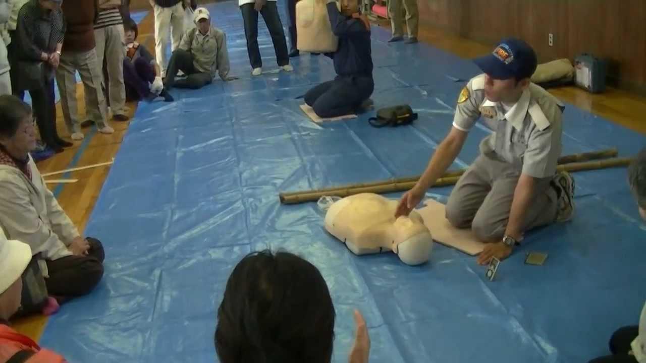 応急救護訓練(AED) - YouTube