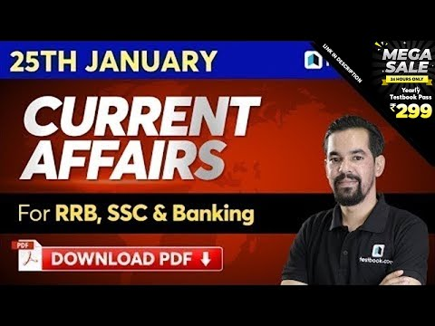 25 January Current Affairs 2020 for DRDO MTS, SSC CHSL & RRB NTPC | Mahesh Sir | Episode 504