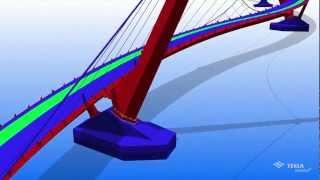 Tekla Global BIM Awards 2011 Steel category winner - Peace Bridge, Northern Ireland