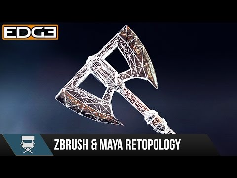 #2 Game Axe Asset Creation Series - Retopology in Zbrush & Maya HD