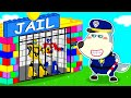 Wolf Family⭐️ Wolfoo Pretend Play Police Catches Toys in Colorful Lego Jail - Funny Stories for Kids