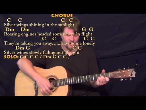 Silver Wings (Merle Haggard) Strum Guitar Cover Lesson in C with Chords/Lyrics