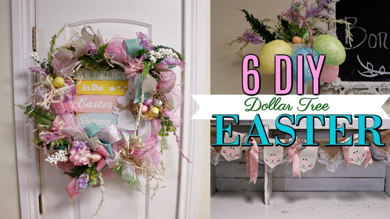 6 Diy Dollar Tree Easter Spring Decor Crafts 🐇 Deco Mesh