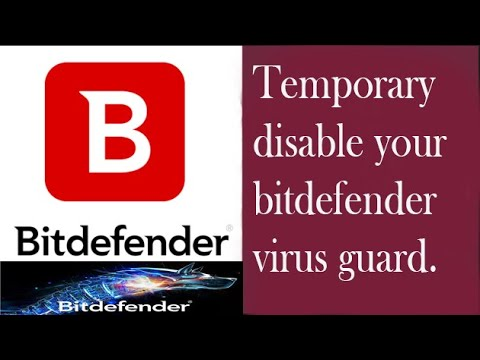 How to temporary disable or enable Bitdefender 2019