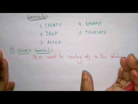 ddl commands in sql | CREAT, DROP |