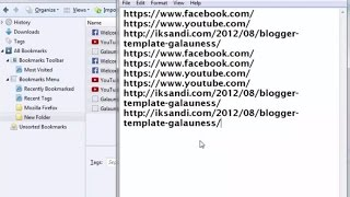 How To Convert Or Save Bookmarks As Text File On Chrome And Firefox