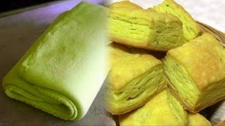 Homemade Puff Pastry - Pate Feuilletee - Khari Biscuit Video Recipe By Bhavna