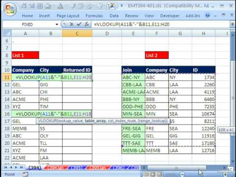 Excel Magic Trick 398: VLOOKUP with Two Lookup Values (IFERROR function also) 2 lookup values