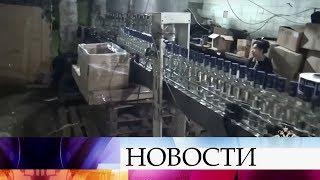 В Подмосковье изъяли почти 80 тысяч бутылок поддельного алкоголя.