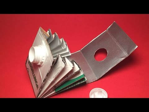 How To Recycle A Milk Carton To Make A Wallet - DIY Crafts Tutorial - Guidecentral