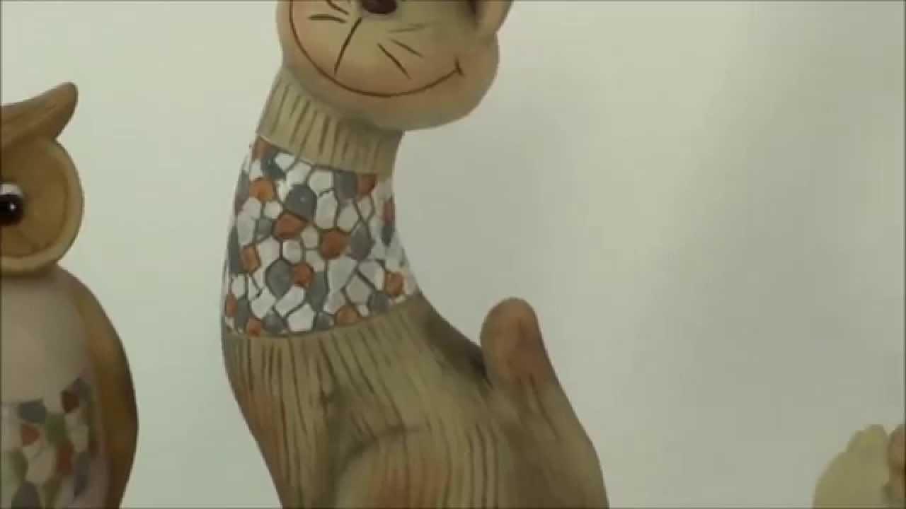 Katzen und Eulen Figuren - YouTube