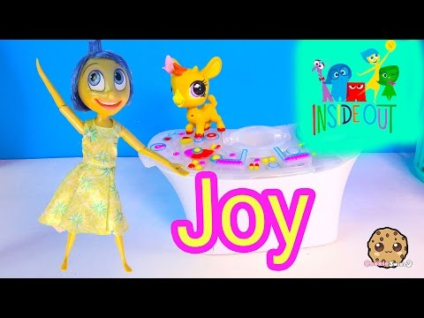 Disney Pixar Store Inside Out Deluxe Talking Light Up JOY Doll + Littlest Pet Shop Unboxing Video