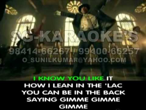 GIMME THAT - CHRIS BROWN-(ENGLISH VIDEO KARAOKE)-RENTAL FOR EVENTS