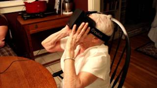 My 90 year old grandmother tries the Oculus Rift.