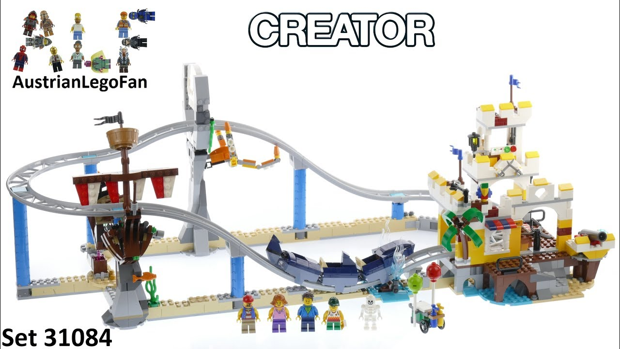 Lego Creator 31084 Pirate Roller Coaster Lego Speed Build Review