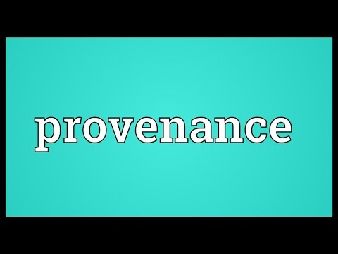 Provenance Meaning