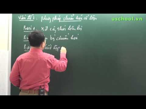Phương pháp chuẩn hóa số liệu - Thầy Chu Văn Biên