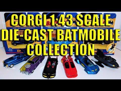 Batman: Corgi 1:43 Scale Die-Cast Batmobiles & Bat-Vehicles Collection