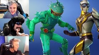 STREAMERS REACT 'NOUVEAU' VENTURION - TOXIC TROOPER SKINS IN FORTNITE! SKINS DE LEAKED DE LA SAISON 4
