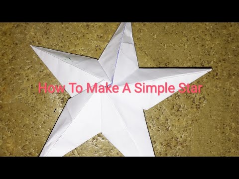 How To Make Simple & Easy Paper Star | DIY Paper Craft Ideas || 2018