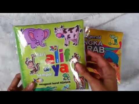 Softbook   Buku Kain : ALIF-YA dan ANGKA ARAB