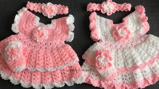 Easy crochet baby dress/craft & crochet baby frock