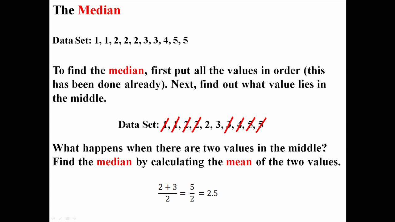 Central Tendency: Mean, Median, And Mode
