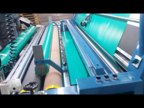 COATED FABRIC SELVEDGE CUTTING AND REWINDING MACHINE