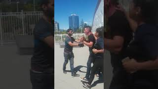Drunk people vs bmx rider at chuck bailey skatepark