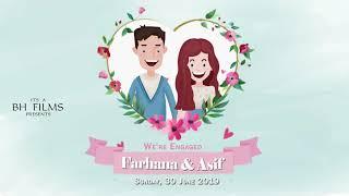 Süßeste Digital-Hochzeits-Einladung Animierte Video | BH S25