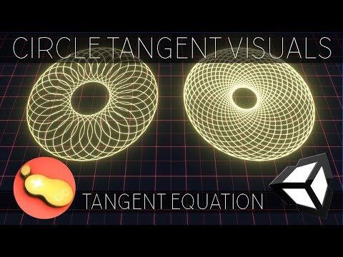 Circle Tangent Visuals - Unity/C# Tutorial [Part 2 - Tangent Equation] thumbnail