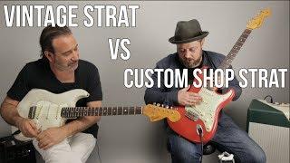 Vintage Strat vs Custom Shop Strat w Jason Sinay Video