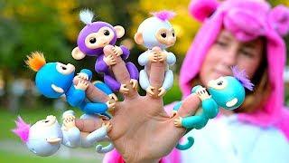 Finger Family Song (Five little Monkeys) - Nursery Rhymes, Children Song
