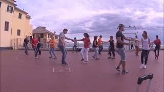 "International Flashmob ""WEST COAST SWING"" Genova (Italy) 2 settembre 2017"