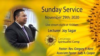 Sunday Service- Joy Sagar, Cassadaga, Fla- November 29, 2020