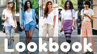 Summer White Tshirt Outfit Ideas / Tshirt Dresses  | Fashion Lookbook 2018
