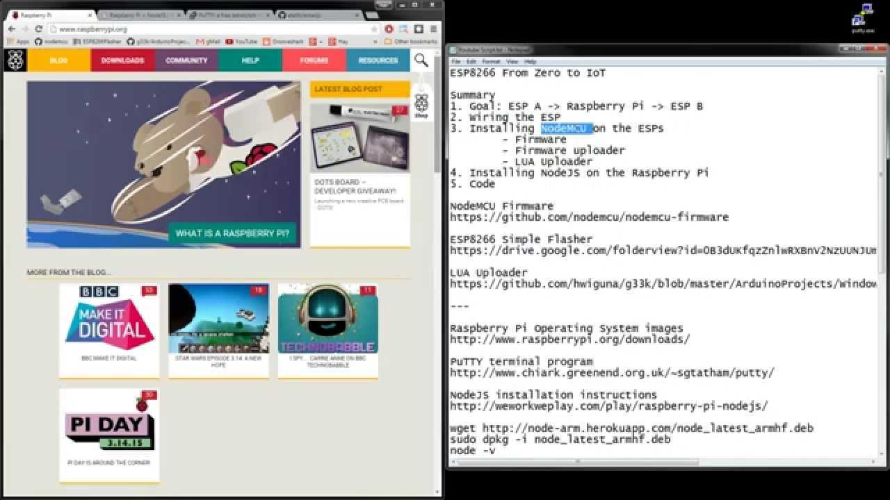 HariFun#104 - Raspberry Pi + ESP8266 Part 4 - NodeJS