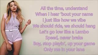 Tinashe ~ No Contest ~ Lyrics