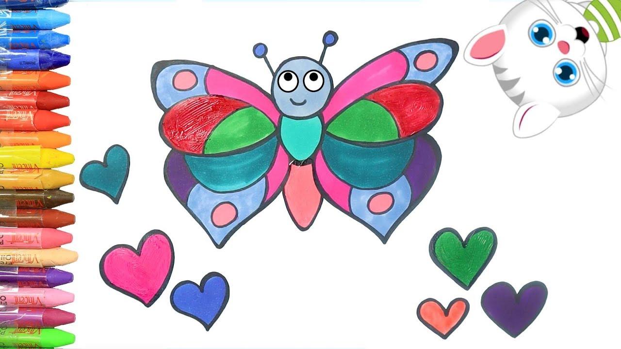 Simli Kelebek Boyama Ile Renkleri Ogreniyorum Cocuklar Icin