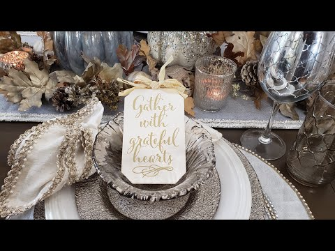 Beauti-Fall Tablescape Collab/Rustic Glam/Decorate With Me