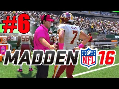 Madden 16 Career Mode - Part 6 - Airing it Out! (Redskins at Jets, Week 6) [Xbox One 1080p]