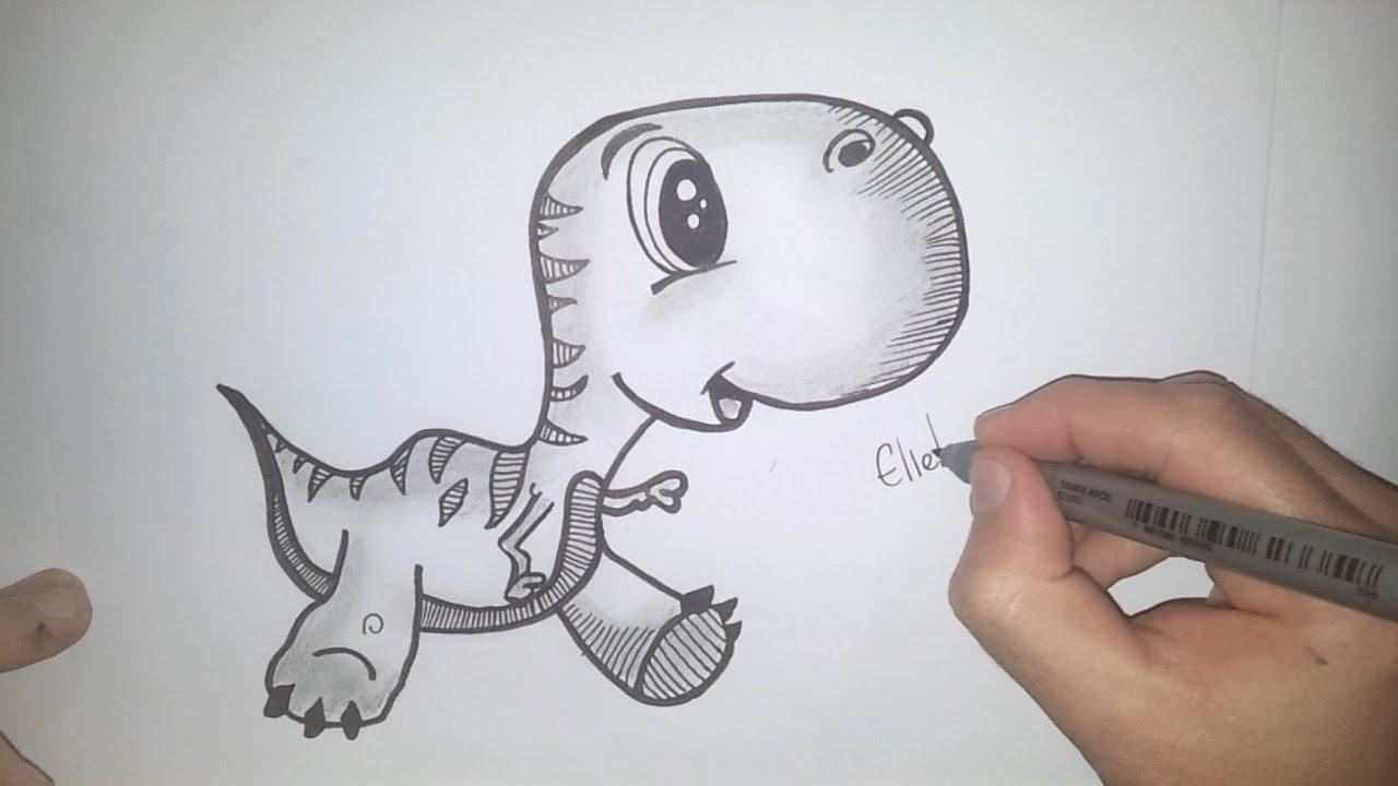 dinossauro como desenhar um filhote de dinossauro desenho