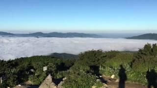 糸島 脊振山系 井原山山頂 雲海出現