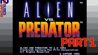 Alien vs Predator the Arcade Game - Part 1 of 3 - Two Bad Dudes Gaming