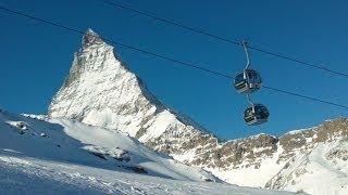 17 km Skipiste vom Klein Matterhorn nach Zermatt