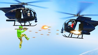 EXTREME HELICOPTER vs. HELICOPTER BATTLES! (GTA 5 Funny Moments)