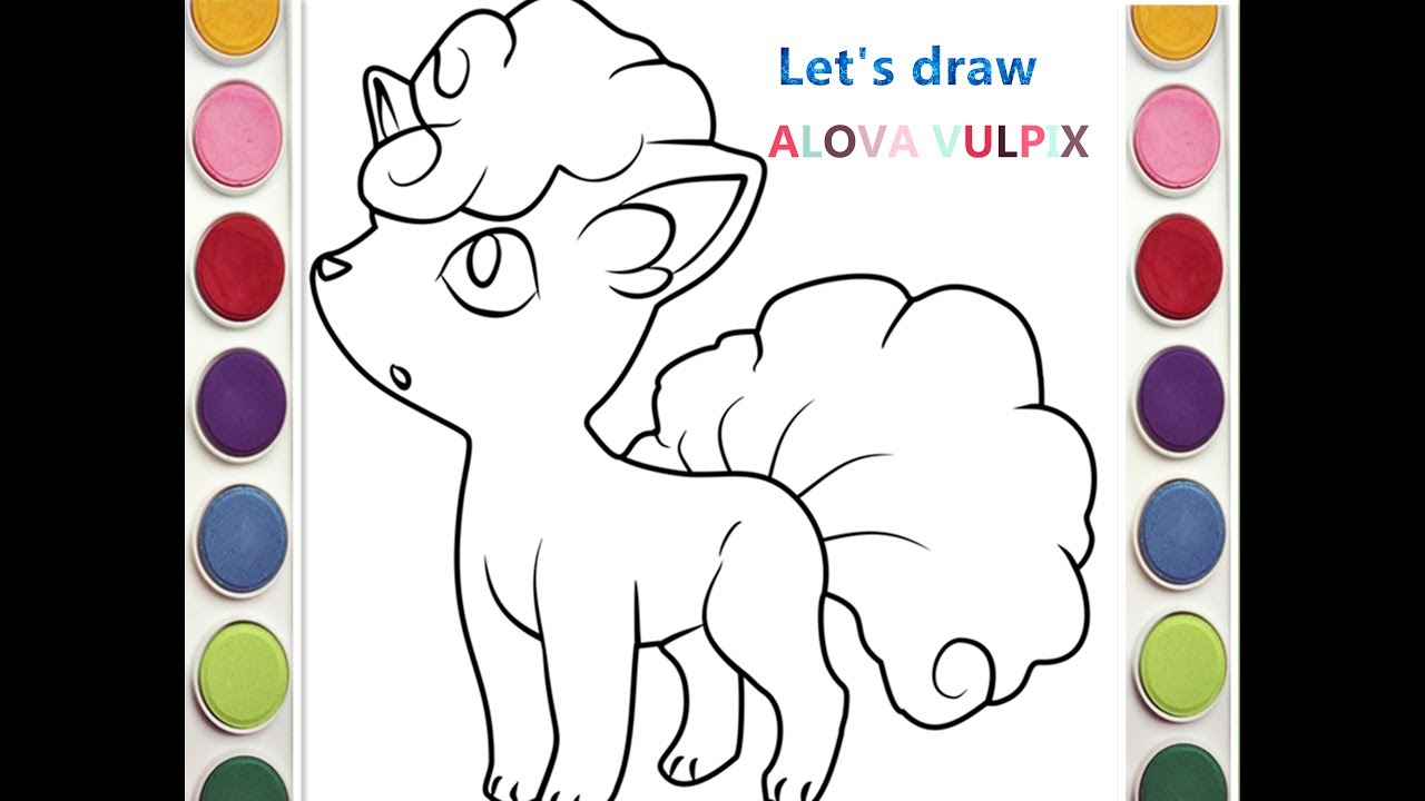 Biba KidsTv - How To Draw Alola Vulpix Coloring Pages Step by Step ...