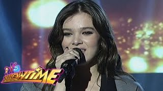 "It's Showtime: Hailee Steinfield sings ""Rock Bottom"""