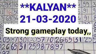 Kalyan matka **21-03-2020** strong jodi trick today // Kalyan satta matka bazaar